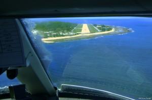 Landing into Nauru