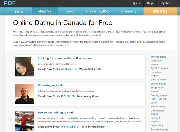 User submitted levels online dating