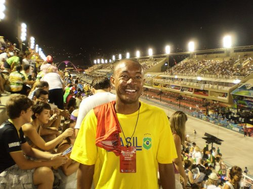 Me in the Sambadrome in Rio De Janeiro, Brazil