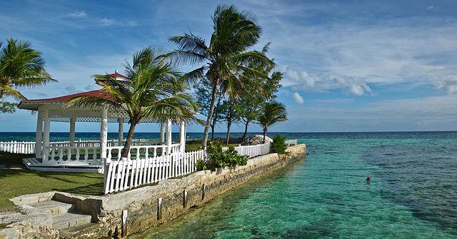 A gazebo in the Bahamas