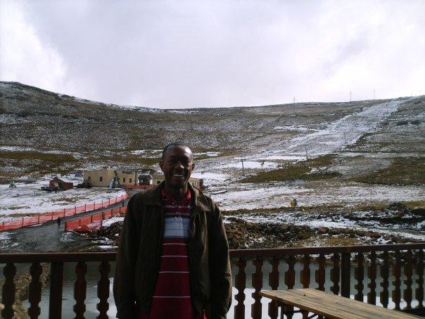 Me at Mahlasela Ski Slope, Lesotho
