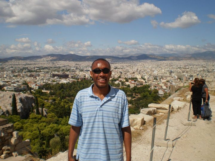 Atop the Acropolis in Athens, Greece