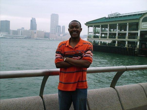 Me at the Hong Kong Harbour