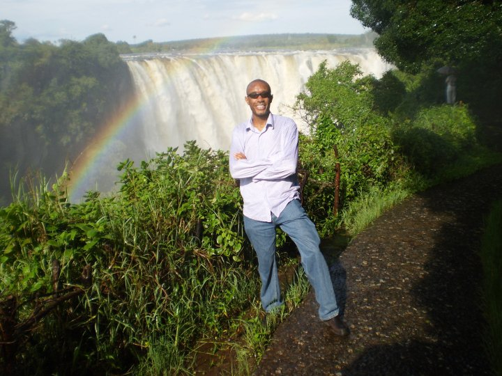 Photo of Me on the Zambian Side of Victoria Falls