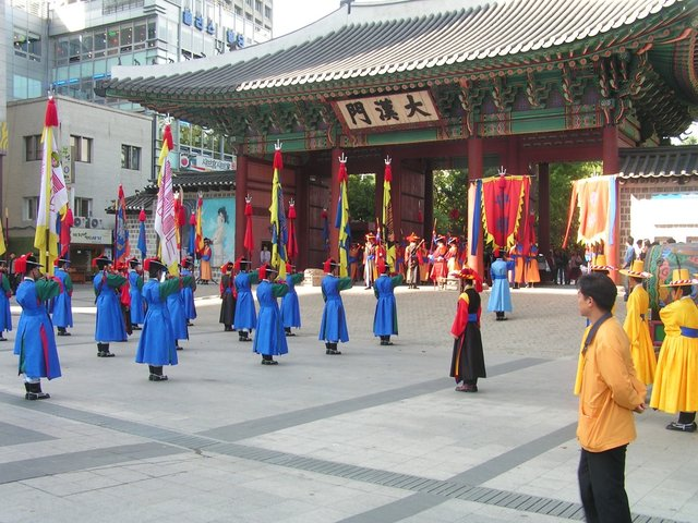 Royal Guard Changing Ceremony at Royal Palace (Deoksugung), Seoul, South Korea