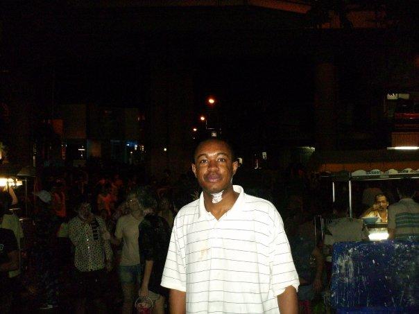 Me at the Songkran Water Festival in Thailand, Bangkok