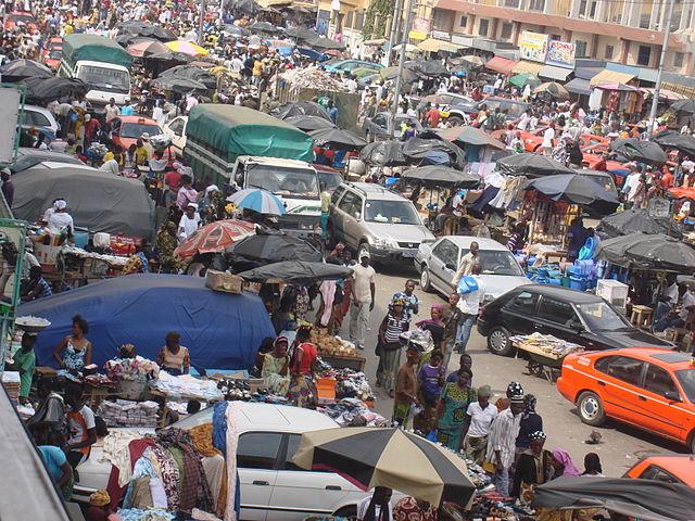 Street Market in Ivory Coast