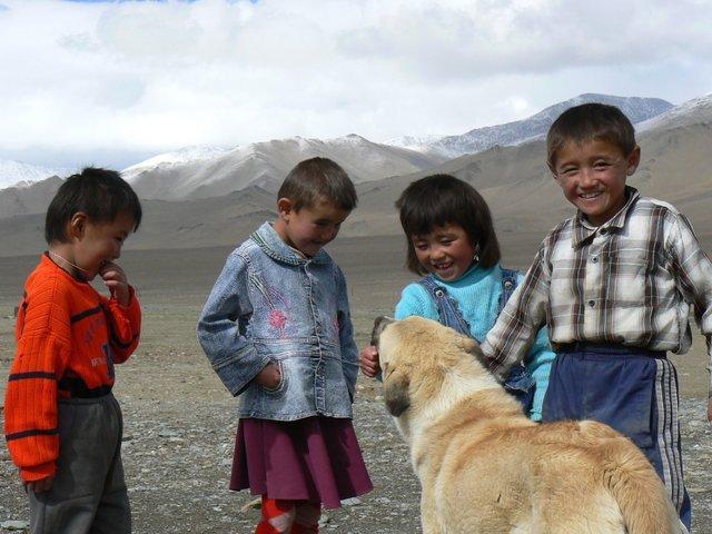 Kids in Tajikistan