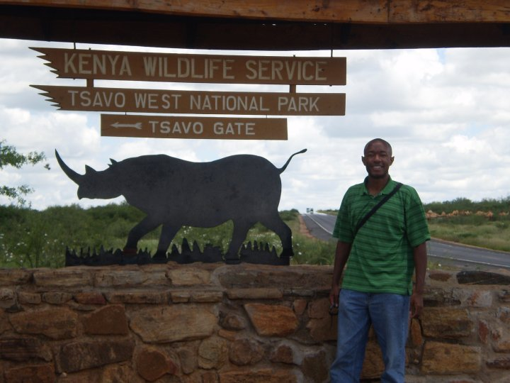 Me at Tsavo National Park, Kenya