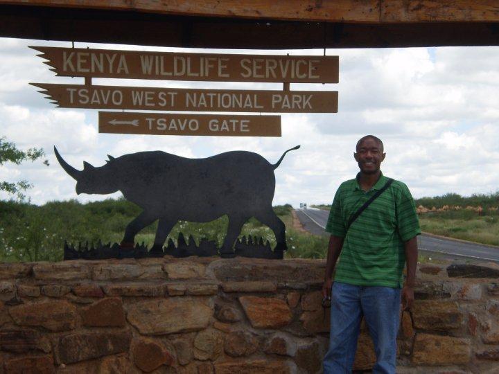 Me at Tsavo National Park, Kenya