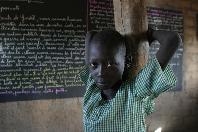 School kid in Central African Republic
