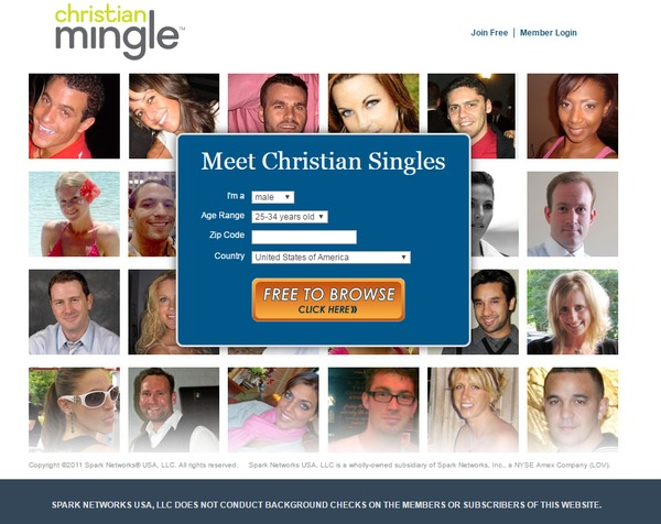 New christian dating site free